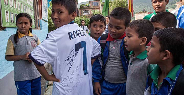 Ronaldo sent t-shirt for nepal, Jetin Shrestha,