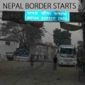 Nepal and indian border, fuel tanks enter nepal