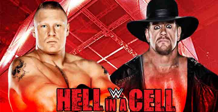 hell in a cell, Undertaker vs brock, WWE