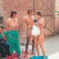 naked protest by dalit family, indian police worst police, whole family stands naked for protest
