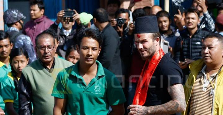 David Beckham in Nepal, David Beckham in nepal for project