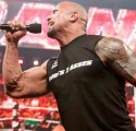 The Rock Singing We will We will Rock You