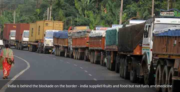 Nepal border blockade by india, most of protesters are indian, indian unofficial blockage