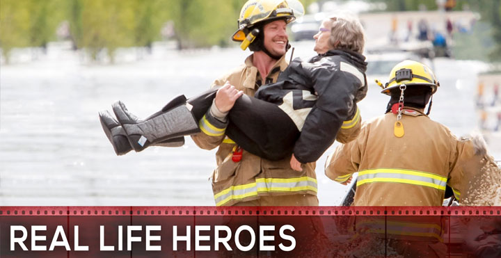 real life hero, helping hands, person who saved other's life